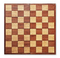 Old wooden chess board isolated. Royalty Free Stock Image