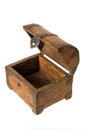 Old Wooden Chest Stock Image