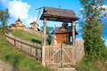 Old wooden church carpathian region vorokhta ukraine Royalty Free Stock Photography