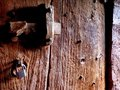 Old wooden church door Stock Image