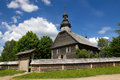 Old wooden church near minsk belarus in museum Stock Photography