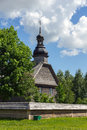 Old wooden church near minsk belarus in museum Royalty Free Stock Image