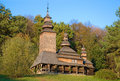 Old wooden church in pirogovo ukraine Stock Image