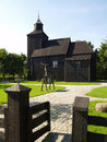 Old wooden church in poland Stock Photo