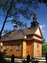 Old wooden church view of in poland Stock Image
