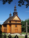 Old wooden church view of in poland Stock Photos