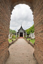 Old wooden church of Wat Lok Molee, Chiangmai, Thailand Royalty Free Stock Photo