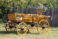 Old wooden coach Stock Images