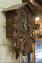 Old wooden cuckoo clock Royalty Free Stock Photo