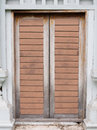 Old wooden door ancient historical design of fashioned Royalty Free Stock Image