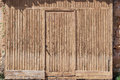 Old wooden door brown detail Stock Photography