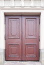 Old wooden door brown relief Stock Photos