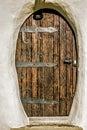 Old Wooden Door On A Building