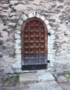 Old wooden door castle tallinn Royalty Free Stock Photo