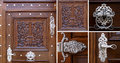 Old wooden door doors with antique fittings Stock Images