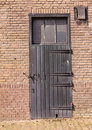 Old wooden door of a Dutch barn Stock Photos