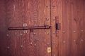 Old wooden door lock on vintage retro style Royalty Free Stock Photography