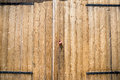 Old wooden door with the padlock Royalty Free Stock Photo