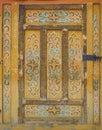 Old wooden door into the tent.