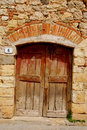 Old Wooden Door in Tuscany 2 Stock Images