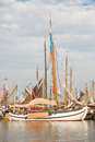Old wooden dutch ships Royalty Free Stock Photo