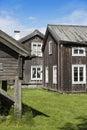 Old wooden farm buildings Halsingland Sweden
