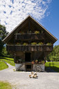 Old wooden farm house