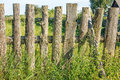 Old wooden fence closeup Royalty Free Stock Photo