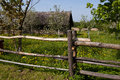 An old wooden fence a near the village house belarusian architecture of the th century Stock Images
