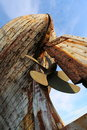 Old Wooden Fishing Boat Detail...