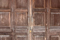 Old wooden folding door.