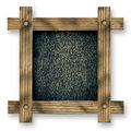 Old  wooden frame against a white background with black wood copy space in the center Royalty Free Stock Photo