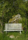 Old wooden garden bench Royalty Free Stock Images