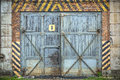 Old wooden gate Stock Images