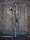 Old Wooden Gate Into The Castle.
