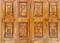 Old wooden gate with padlock Royalty Free Stock Photo