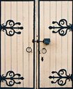 Old wooden gates Royalty Free Stock Photo