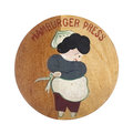 Old Wooden Hamburger Press Top Royalty Free Stock Photography