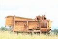 Old wooden harvester Royalty Free Stock Photo