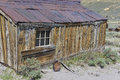 Old wooden house at bodie state historic park california us Stock Photos