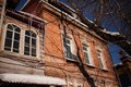 Old wooden house in the Irkutsk city Royalty Free Stock Photo