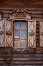 Old wooden house in the Irkutsk city Royalty Free Stock Image