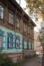 Old wooden house in the Irkutsk city Royalty Free Stock Photos