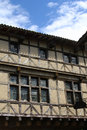 Old wooden house in the medieval village of perouges Royalty Free Stock Photo