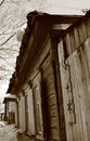 Old wooden house siberia barnaul Royalty Free Stock Photography