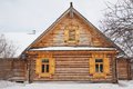 Old wooden house in village the russian Royalty Free Stock Photo