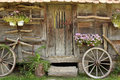 Old wooden hut Stock Images