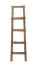 Old wooden ladder isolated. Royalty Free Stock Photo
