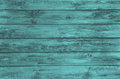 Old wooden painted background in turquoise color surface of an Royalty Free Stock Images