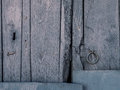 Old wooden painted door background Royalty Free Stock Photo